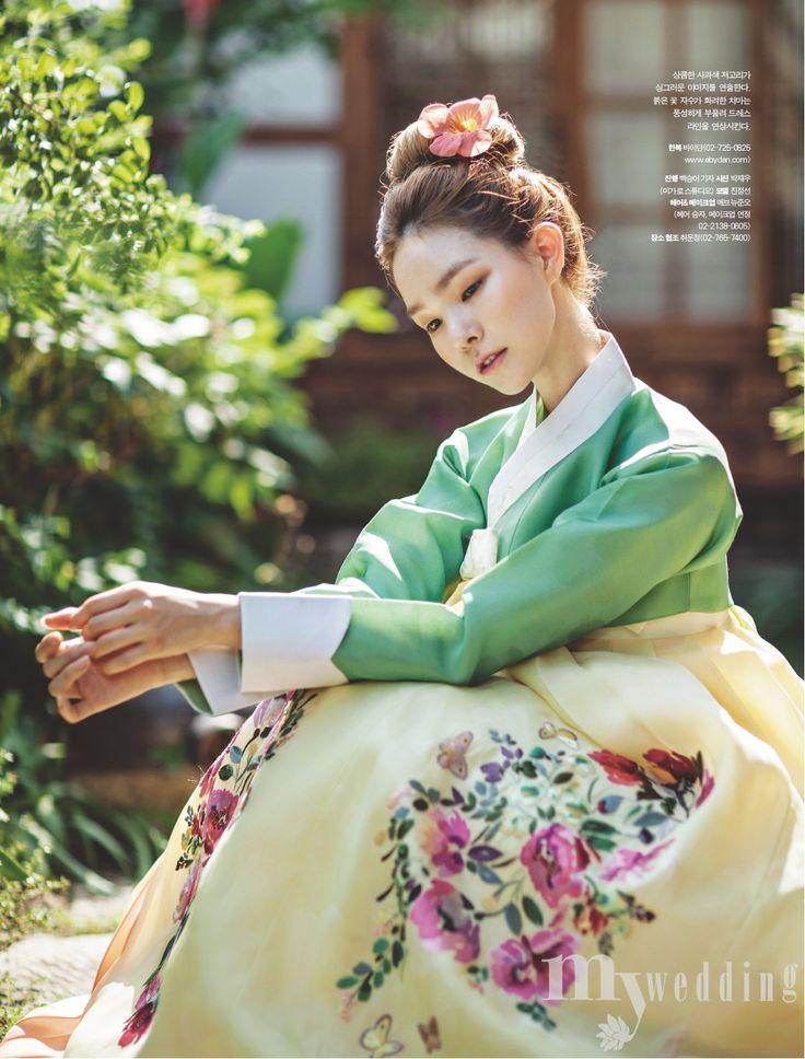 kculturefashion: 여름 이야기 (Summer Story) MyWedding August 2015Hanbok: 바이단Model: 진정선