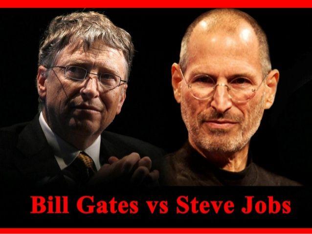 Steve Jobs & Bill Gates by SeoCustomer.com via slideshare