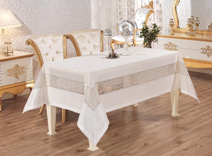Elit Masa Örtüsü Beyaz