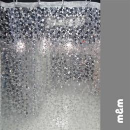 Moma Shining Crystal Effect Waterproof Bathroom Shower Curtain - DinoDirect.com