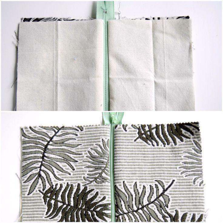 Billedeguide: Sy lynlås og foer i en lille taske eller pung. Sådan syes lynlås og foer i en lille taske eller pung. Nemt og enkelt med pæne hjørner