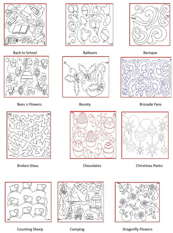Pantograph Patterns For Long Arm Quilting : 467 best Quilting - Longarm pantographs images on Pinterest Bunnies, Quilt block patterns and ...