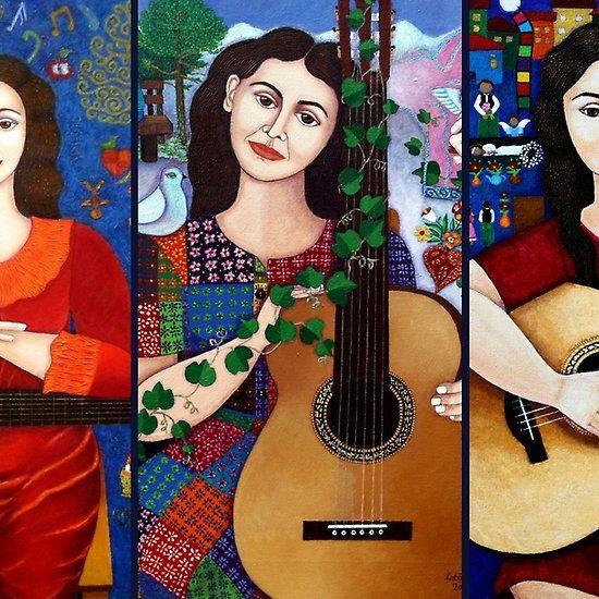 Violeta Parra collage