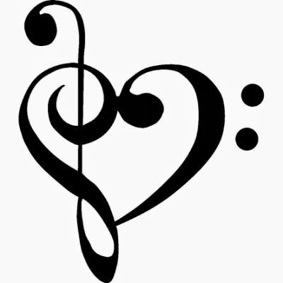 Music note heart tattoo                                                                                                                                                     More
