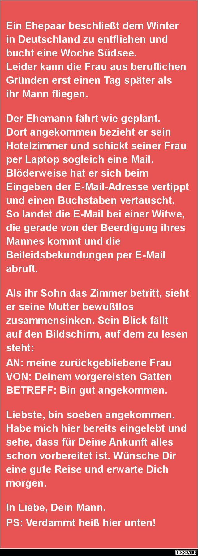 Ein Ehepaar beschließt dem Winter in Deutschland..   DEBESTE.de, Lustige Bilder, Sprüche, Witze und Videos