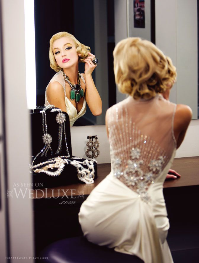 This would be an amazing wedding look... Old Hollywood Glam