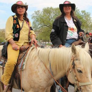 Winona LaDuke and her sister sit on horseback at the beginning of the Keystone XL Pipeline protest, which took place in Washington, D.C. on April 22, 2014. (Vincent Schilling) Winona LaDuke A former Green Party vice-presidential candidate alongside Ralph Nader, an internationally acclaimed author, orator and activist, and graduate of Harvard and Antioch Universities with advanced degrees, Winona LaDuke (Anishinaabe), is a stoic fighter for Native land and environmental rights. Fighting on…