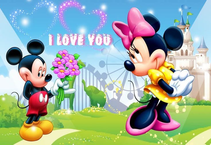 HD Background Mickey Mouse And Minnie Mouse Love Couple Heart 750×515 Mickey Mouse 3D Wallpapers (43 Wallpapers) | Adorable Wallpapers