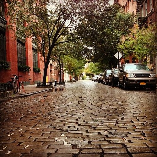 NYC. Perry Street, West Village. There are many urban landscapes in Manhattan...