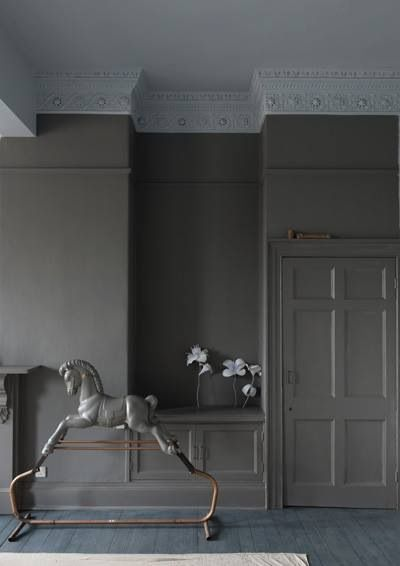 Farrow & Ball, Mole's breath. Catch the video on you tube it's fab! http://www.youtube.com/watch?v=nfPxSLd2Q3U