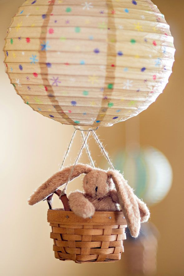 This would be a cute way to give a gift. There's just something magical about hot air balloons :)