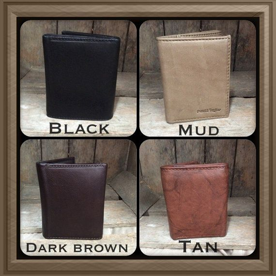 Genuine leather Trifold Wallet great gift that can by mandwleather