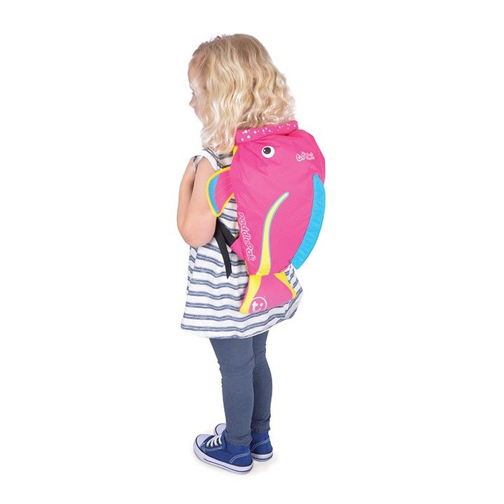Trunki PaddlePak Sırt Çantası Pembe Balık - Coral #sırtçantası #çocukçantası #backpack #paddlepak #trunki
