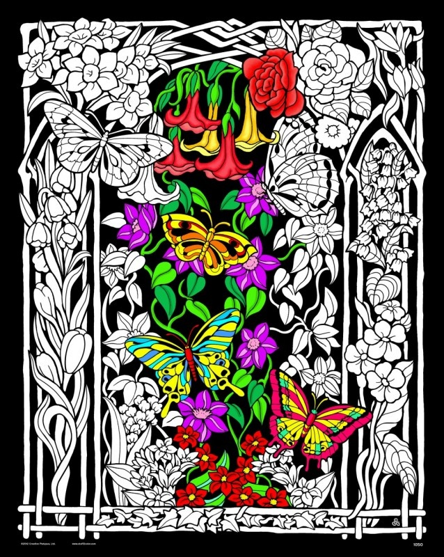butterflies and flowers fuzzy postersadult coloring pagesblack velvetcolouringbutterfliespencil