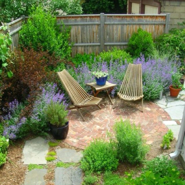 125 best images about gardening small garden ideas that for Garden sit out designs