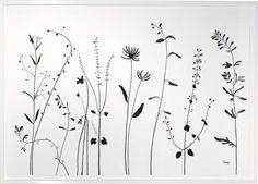 black and white wildflower tattoo - Recherche Google                                                                                                                                                     More