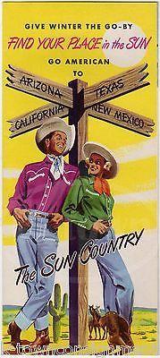 CALIFORNIA ARIZONA TEXAS GREAT WEST VINTAGE GRAPHIC ADVERTISING TRAVEL BROCHURE
