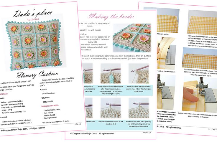 Crochet cushion pattern and step by step tutorial