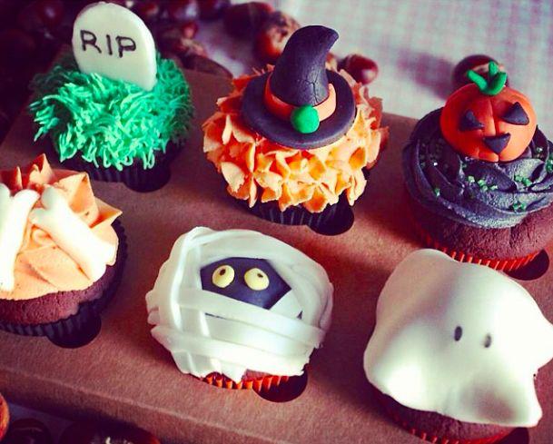 Aquí están los cupcakes de nuestra Halloween's Box!!