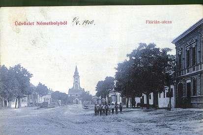 Üdvözlet Németbólyból. Flórián utca | Képeslapok | Hungaricana