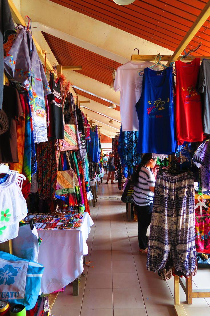 Shop for some island fashions in the Port Vila central market in Vanuatu!