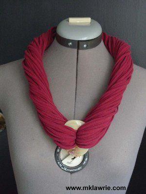 Tee Shirt Yarn Necklace