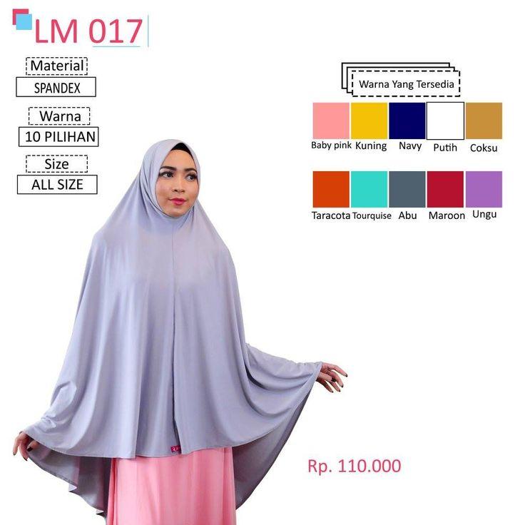 LM 017 Lamia Hijab - Kerudung Bergo Syar'i bahan kualitas premium, nyaman dipakai dan anti gerah. Material : Spandex. Size : All Size. #lamiahijab #hijabindonesia #kerudunginstan #bergo