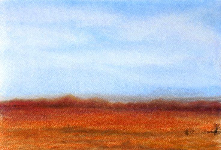 Outback Daze. Panpastel on superior lightfast 360gsm pastel paper. 21cm x 30cm Unframed