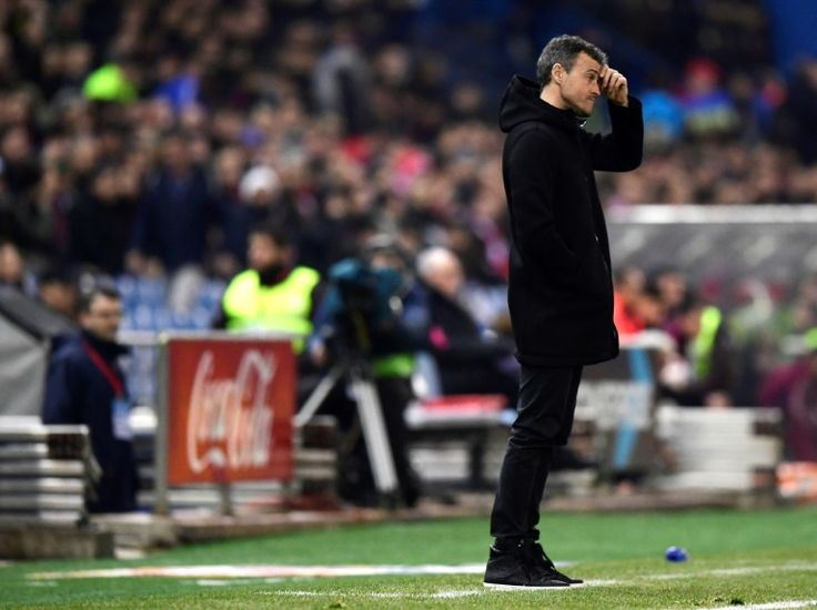 Barcelona rue missed chance despite Atletico lead   Madrid (AFP)  Barcelona coach Luis Enrique admitted missed chances leave his side with still some work to do to reach a fourth consecutive Copa del Rey final despite taking a 2-1 semi-final first leg lead over Atletico Madrid.  Sensational strikes from Luis Suarez and Lionel Messi had Barca cruising at half-time at the Vicente Calderon on Wednesday.  However Antoine Griezmann pulled a goal back for an inspired Atletico after the break…