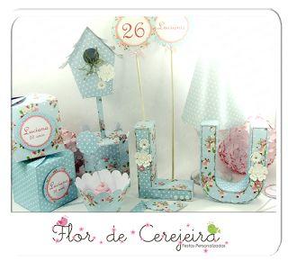 Flor de Cerejeira - Festas Personalizadas: Aniversário Adulto - Shabby Chic
