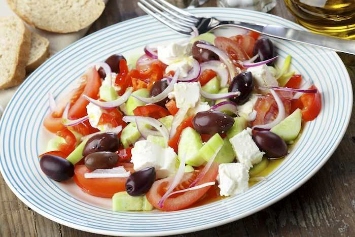 Refreshing salads with earthy olive oil