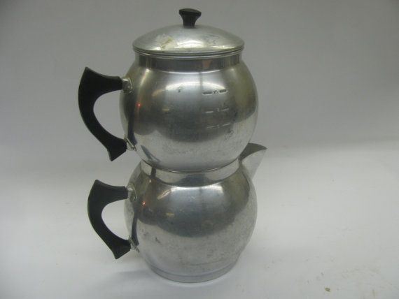 Two Tier Percolator Coffee Drip Pot Large  Arrow by 24northmain