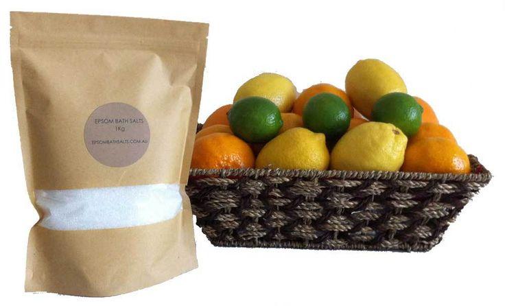 FRUIT HAMPERS + FRUIT BASKETS - FREE DELIVERY  igiftFRUITHAMPERS.com.au - Flu Buster Citrus Fruit Gift Basket   1Kg Epsom Bath Salts, $74.00 (http://www.igiftfruithampers.com.au/flu-buster-citrus-fruit-gift-basket-1kg-epsom-bath-salts/)