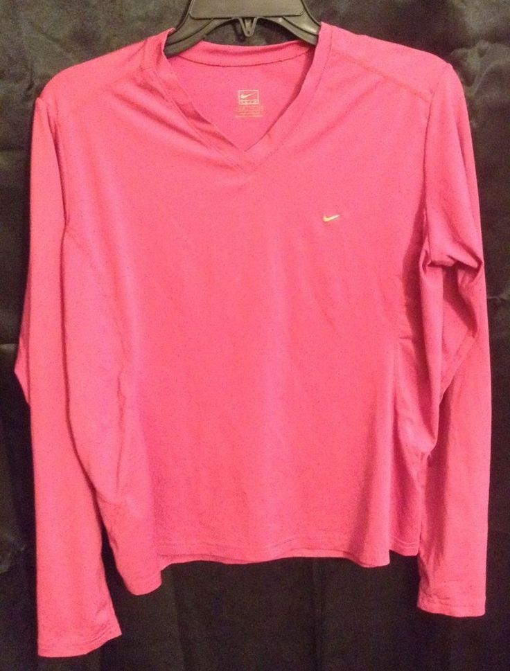 Nike Women's Athletic Shirt Pink Sz M(8-10) Workout Gear GUC | Clothing, Shoes & Accessories, Women's Clothing, Athletic Apparel | eBay!