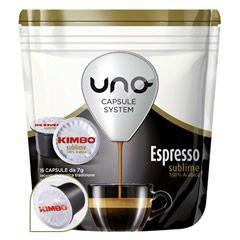 16 CAFFÉ UNO CAPSULE SYSTEM KIMBO ESPRESSO SUBLIME