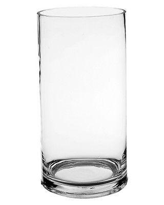 "Cylinder Vase, Glass Vases Wholesale. H-10"", Open Diameter - 5"" (Lot of 12 pcs)"