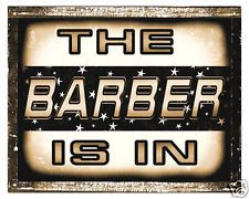BARBER SHOP sign LOCAL hair salon funny VINTAGE wall decor display RETRO PLAQUE