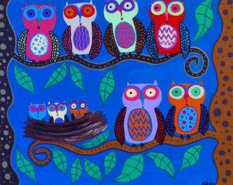 Ambrosino Art NEEDLEPOINT Mexican Folk Art Tree by kerriambrosino