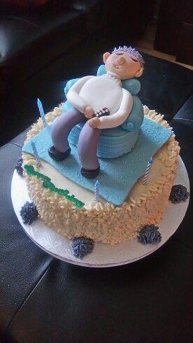 75th  birthday cake for grandpa!