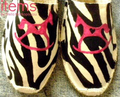 Hand painted espadrilles #itemsbyStellaMarkopoulou.
