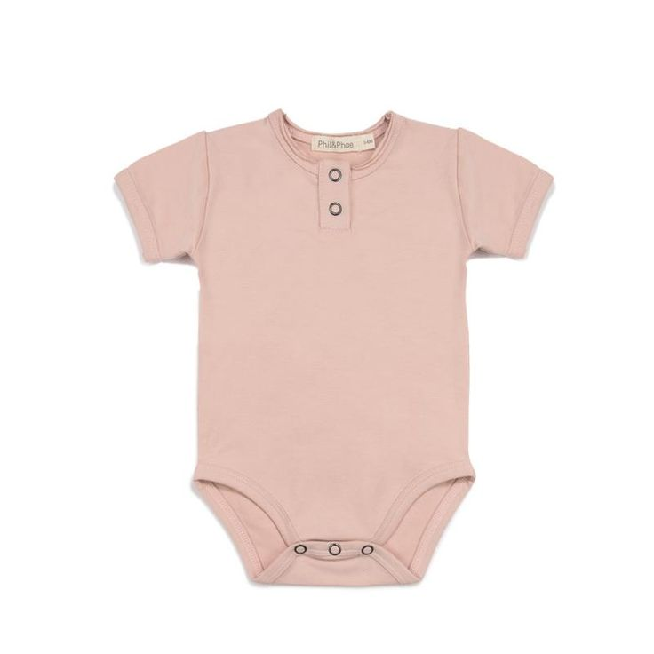 ORGANIC BABY ONESIE MICK IN BLUSH
