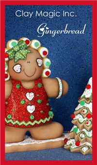 Gingerbread, #Christmas #clay