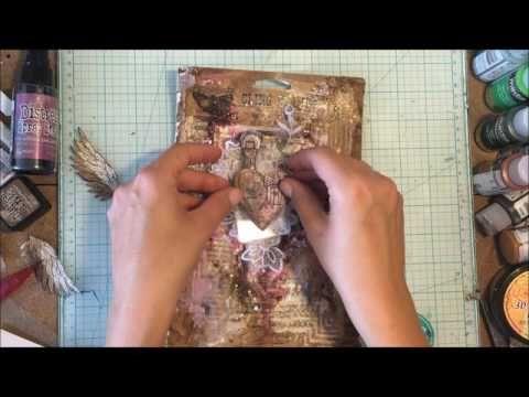 tutorial Mixed media art How to make texture - YouTube