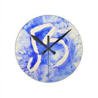 Blue Watercolor Wall Clocks | Watercolor Home Decor