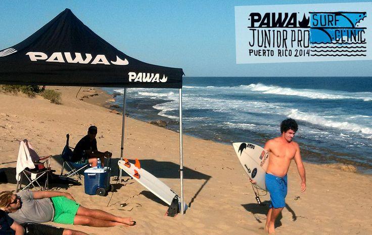 PAWA Junior Pro Surf Clinic Puerto Rico -#pawasurfclinic #pawasurf