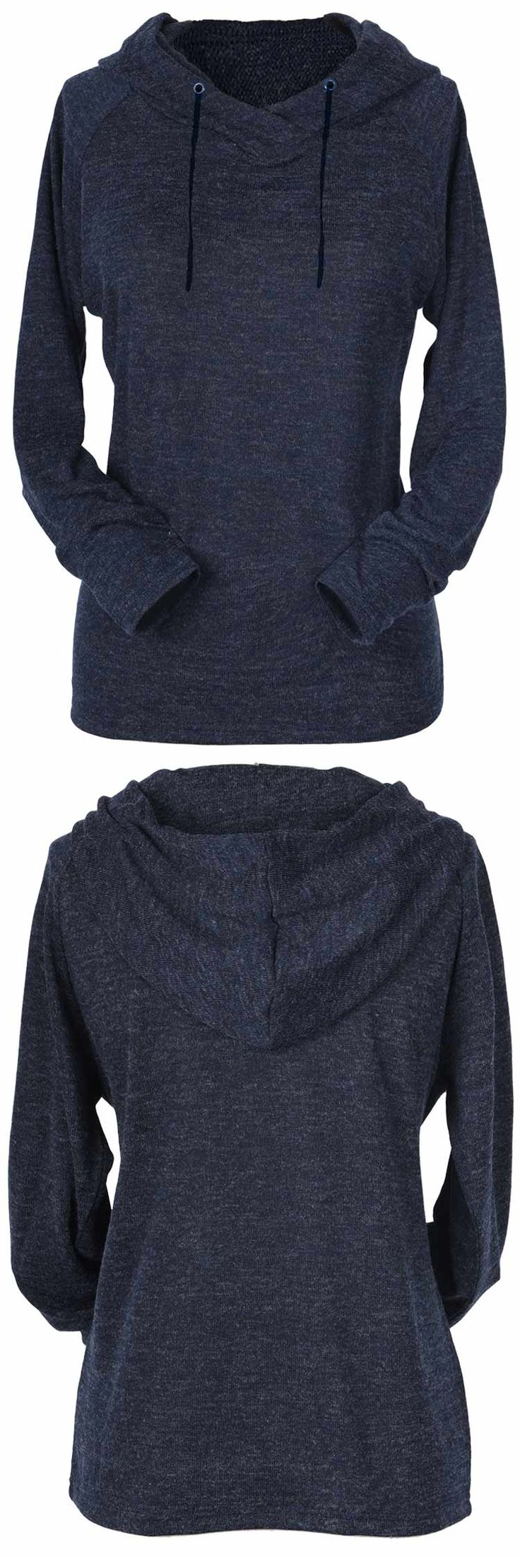 $21.99 Only with free shipping! You won't mind being put on the spot in this top. This solid color hoodie will be your fave this fall/winter! Search more at Cupshe.com