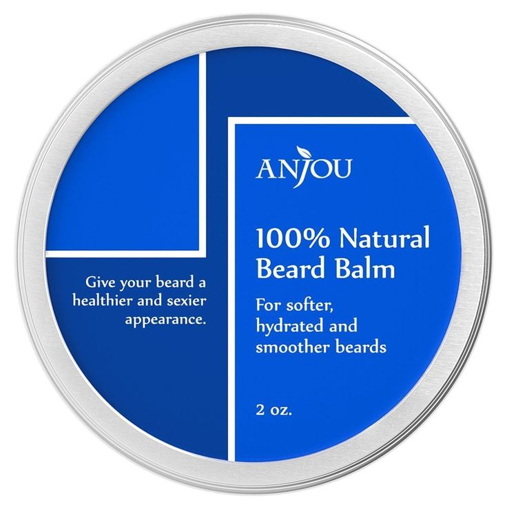 Beard Balm, Anjou 100% Pure, Natural Leave-In Wax Beard Conditioner with Vitamin E, Moroccan Argan Oil, Jojoba Oil, Tea Tree Oil and Beeswax for Hair Repair and Growth - 2oz -- Read more reviews of the product by visiting the link on the image.