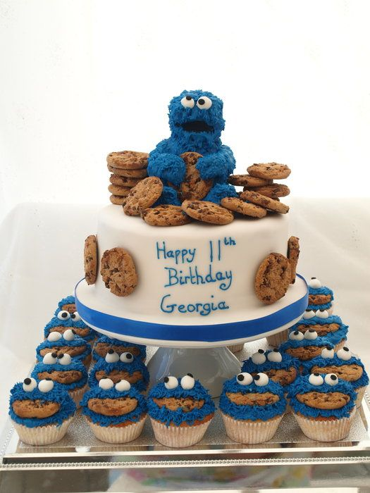 Cookie monster cake. Could make one for Rory's first birthday since he loves cookie monster!