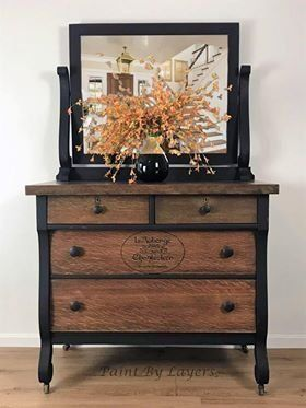 Antique Dresser, French country, Dresser with mirror