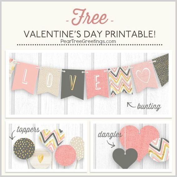 FREE VALENTINE'S DAY PRINTABLES: Holidays Pictures, Valentines Printable, Parties Printable, Printable Buntings, Free Printable Valentines, Free Buntings Printable, Free Valentines Day Printable, Valentines Day Decor, Free Valentine8217